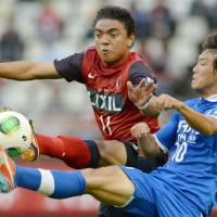 Shoulder the burden: Kashima Antlers forward Davi will have to pick up the goal-scoring slack after strike partner Yuya Osako left the club to join German side 1860 Munich. | KYODO