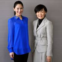 Game-changers: Women's rights campaigners Ikumi Yoshimatsu, a former Miss International (left), and Akie Abe, wife of Prime Minister Shinzo Abe. photo courtesy of I.Y. | GLOBAL