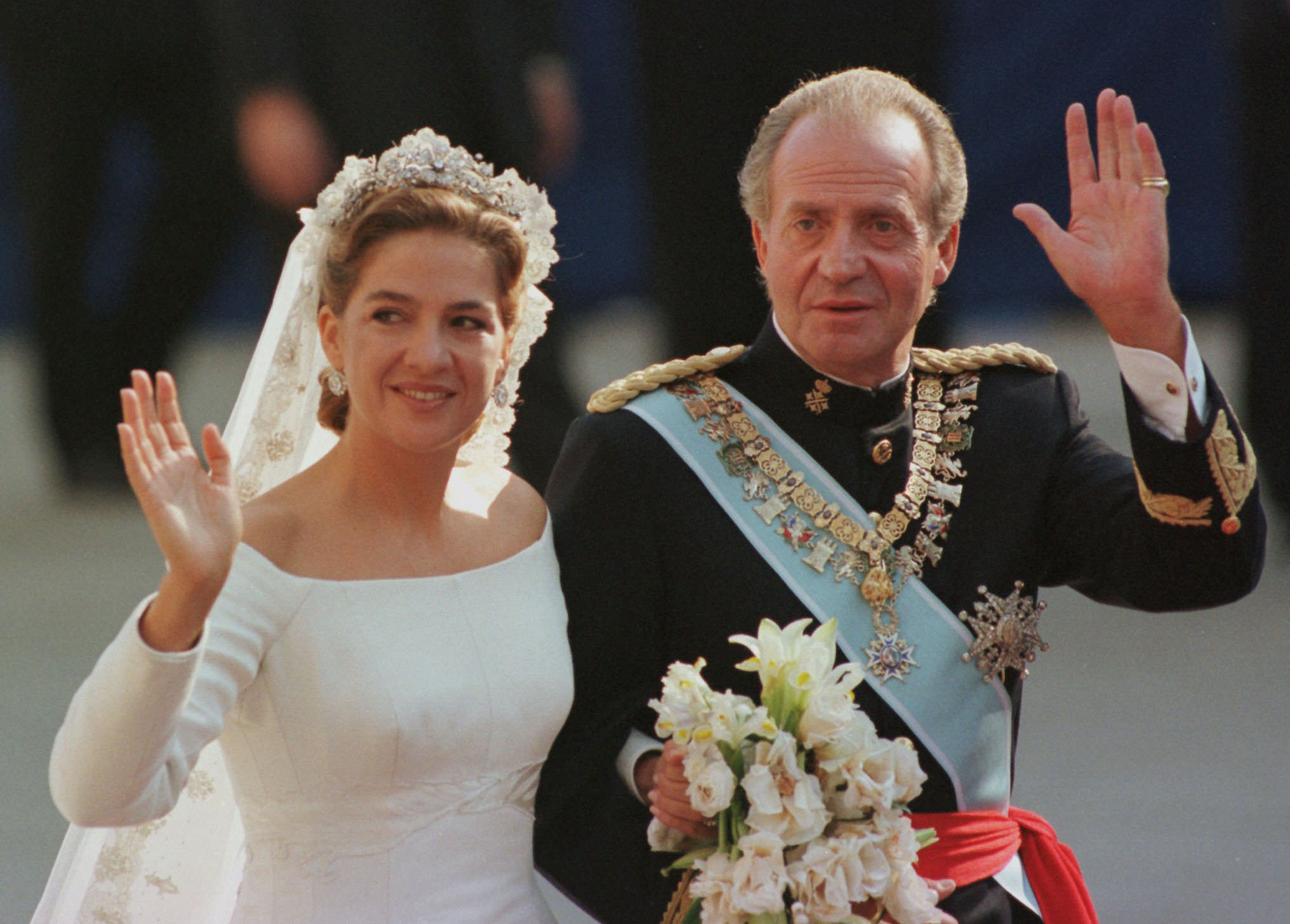 Fairy Tale Beginning Princess Cristina Is Ed To The Barcelona Cathedral By Her Father