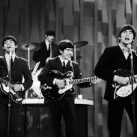 Mop-tops of the pops: The Beatles perform on 'The Ed Sullivan Show' in New York on Feb. 9, 1964. The set was shown on the Feb. 23 broadcast of the show. | AP