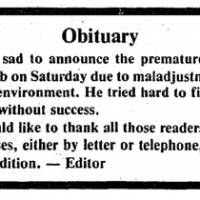 Pulling the plug: The Japan Times draws a line under the 'Happy Bob' affair on April 29, 1984.