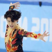 Tatsuki Machida climbed from 11th after the short program into fifth place. | KYODO