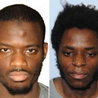 These pictures, released by the Metropolitan Police Service on Dec. 19, show Michael Adebolajo (left) and Michael Adebowale, who were handed a full-life prison sentence and a minimum 45-year term, respectively, at the Old Bailey on Wednesday for the murder of British soldier Lee Rigby. | AFP-JIJI
