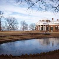 Virginia culture: Monticello, the residence of Thomas Jefferson, the third U.S. President and one of the United States' earliest envoys to France, is shown Wednesday.   AFP-JIJI