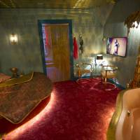 Tasteful: A mock-up of a luxury suite in a brothel is seen at the Red Light Secrets museum. | AP