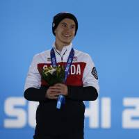 Good sport: Canada's Patrick Chan is handling the disappointment of missing out on an Olympic gold medal with dignity. | AFP-JIJI