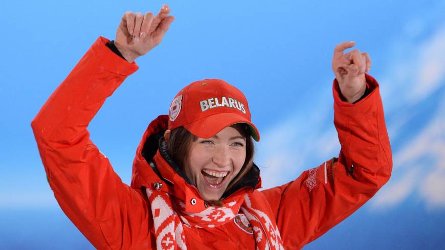 Great feat: Belarus biathlete Darya Domracheva collected three gold medals at the 2014 Winter Games.