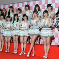 Teen-centric AKB48, shown in this 2013 file photo, is on the hunt for a more mature member, who will join the group temporarily.  | AFP-JIJI