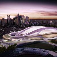 The build up to 2020: A computer-generated image of the original plan for a new Olympic Stadium in Tokyo. With so much construction ahead of the 2020 Tokyo Olympics, companies have asked for a change in immigration law to allow foreign workers to relieve the nation's shortage of blue-collar labor.   BLOOMBERG