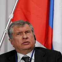 Rosneft CEO Igor Sechin attends a Japan-Russia investment forum Wednesday in Tokyo.   REUTERS