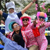 Party starters: Alcohol is abundant at hanami, so watch out if you take small kids.