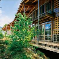 Natural setting: Nanasawa Kibounooka Elementary School, designed by architect Ben Nakamura, uses energy sources such as rainwater, biomass recycling and geothermal heating. | KOUJI HORIUCHI