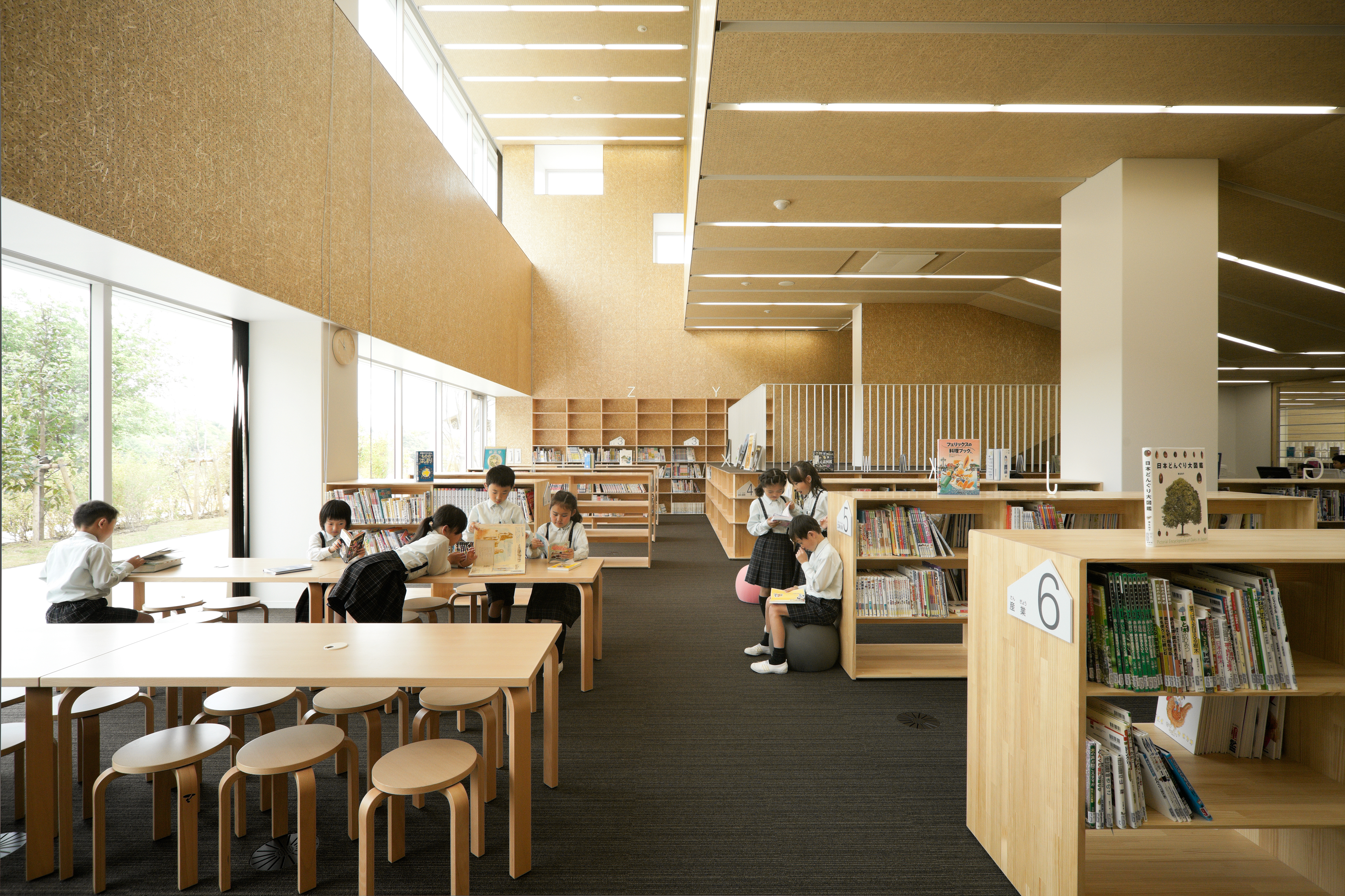 ... The Use Of Wood In The Library And Other Areas Of Teikyo Elementary  School Is Meant