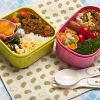 A loving lunch: Colorful bentō boxed lunches are a staple of any child's diet in Japan.  | MAKIKO ITOH