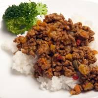 Meat and vegetable curry soboro | MAKIKO ITOH