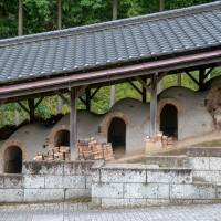 The renowned local potter Shoji Hamada built this climbing kiln in the grounds of his home. | STEPHEN MANSFIELD PHOTO