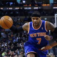 New York minute: Carmelo Anthony's future will be among the first things Phil Jackson will have to address in his new position with the New York Knicks. | AP