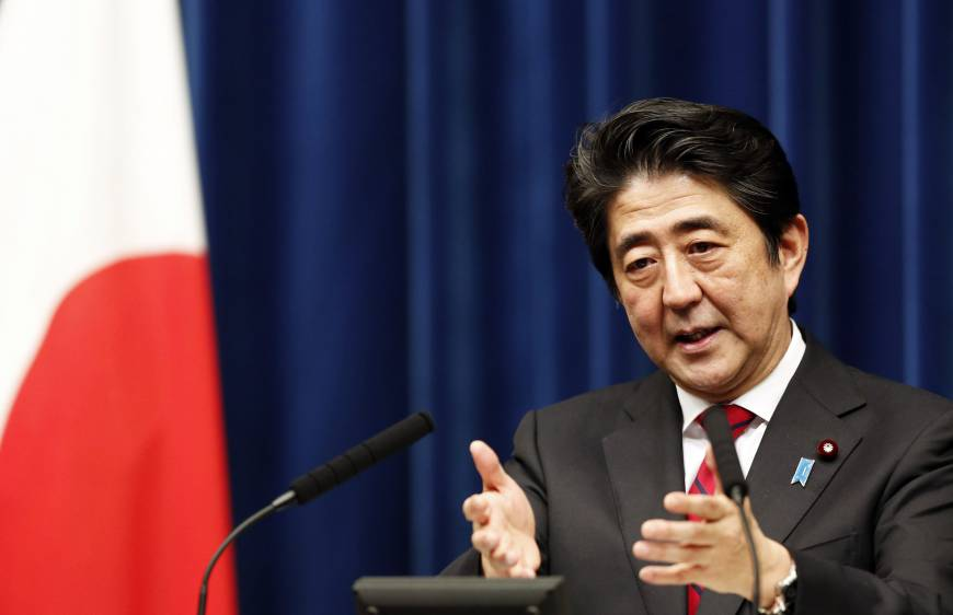 Abe ready for full-on military drive