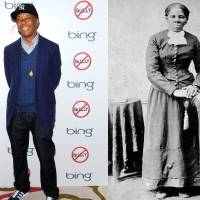 This combination of 2012 and circa 1860-1875 photos shows hip-hop mogul Russell Simmons in New York and abolitionist Harriet Tubman. In 2013, Simmons apologized for posting a parody video of Tubman having sex with her white master while another slave secretly films them so she can blackmail her owner into freeing slaves. | AP