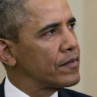 U.S. President Barack Obama has been assailed for his handling of the Ukrainian crisis by Republicans, including his rival in the 2008 presidential election, Sen. John McCain. | AP