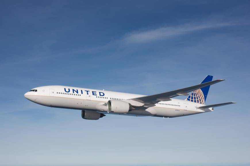 New United flight;  Flying on the Internet;  Korean Air anniversary