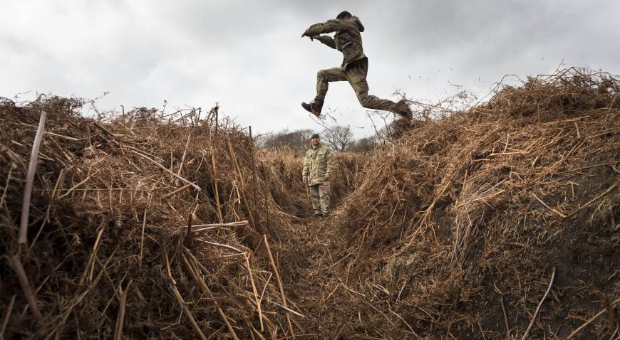 WWI training trenches rediscovered in southern England