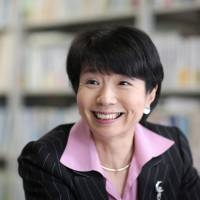 Former economy minister Hiroko Ota is interviewed in Tokyo on Monday. | BLOOMBERG