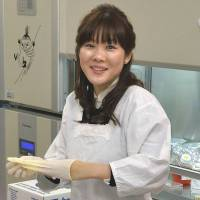 Cutting the apron strings: STAP cell developer Haruko Obokata has helped make kappōgi trendy. | KYODO