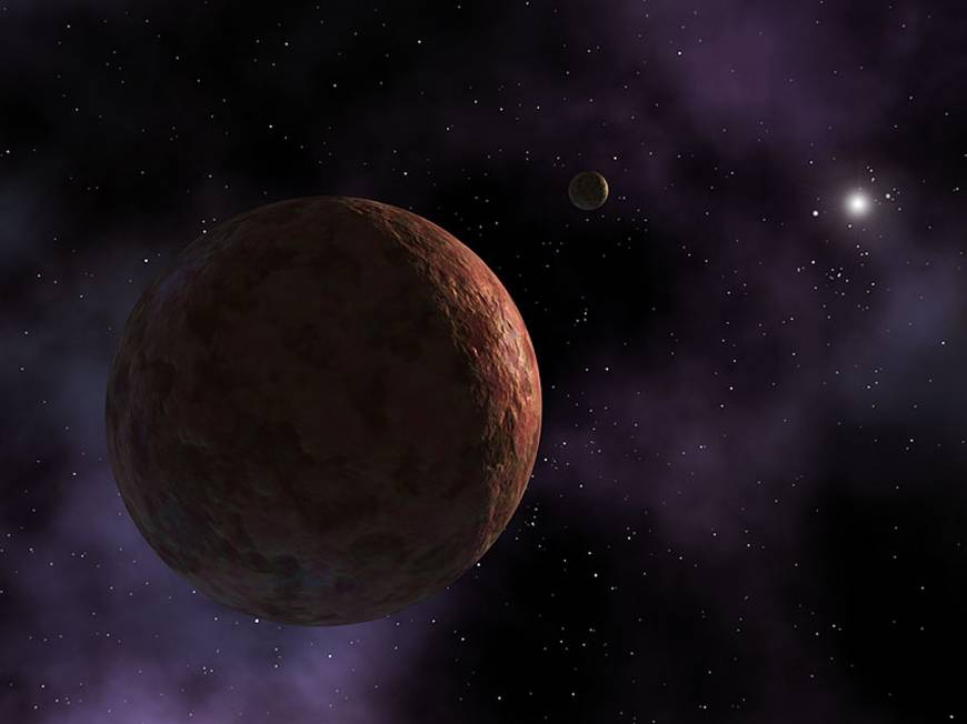 Pink mini-planet found past Pluto in former barren region with Sedna