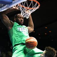 Steady production: Tokyo Excellence post player Markhuri Sanders led the NBDL in rebounding (15.2 per game) this season.   KAZ NAGATSUKA