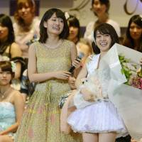 AKB48 fans voted Yuko Oshima to the top spot in the group at its summer election. | KYODO