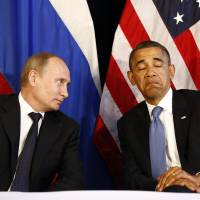 U.S. President Barack Obama meets with Putin in Los Cabos, Mexico, in June 2012. | REUTERS