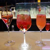 Drink pink: Since cherry blossom is edible, many bars offer themed cocktails at this time of year. | ANGELA ERIKA KUBO