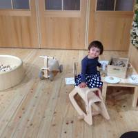 Break time for baby: The wooden play areas being rolled out at Muji stores across Japan give shopping parents a chance to let their kids off the leash. The Shibuya Seibu branch in Tokyo also offers an in-store baby-sitting service. | DANIELLE DEMETRIOU