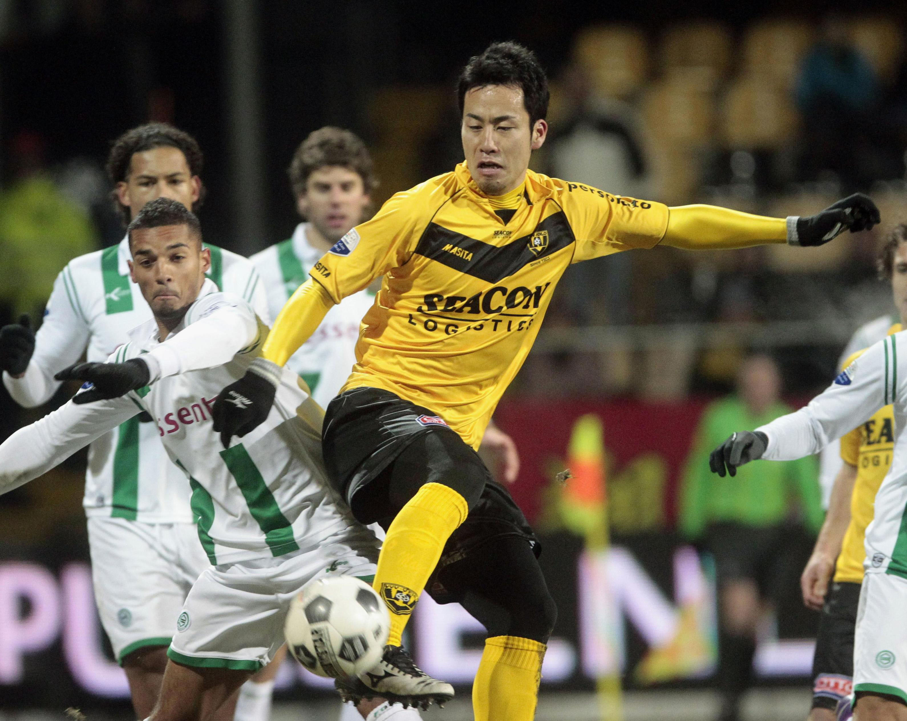 Stepping stone: Japan defender Maya Yoshida played for modest Dutch club VVV Venlo before joining Southampton in England's Premier League. | KYODO