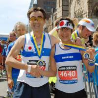 Japanese marathoners join hands in Boston