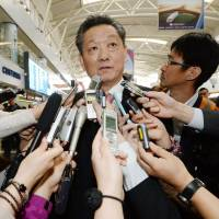 Song Il Ho, North Korean ambassador for talks on normalizing ties with Japan, talks to reporters in Beijing on Tuesday. | KYODO