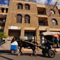 A horse-drawn gharry in Gondar. | C.W. NICOL