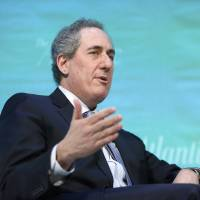U.S. Trade Representative Michael Froman takes part in an onstage interview during the Atlantic Economy Summit in Washington in March. | REUTERS