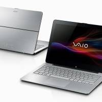 Sony Corp.'s Vaio Fit 11A laptop computers are seen in this file photo. Its batteries could overheat and cause burns. | KYODO