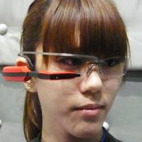 Software maker's glasses-type info device is one of world's lightest