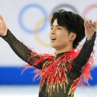 Gracious loser: Despite failing to win a medal in the Sochi Winter Olympics, Japanese figure skater Tatsuki Machida said afterward 'Orimpikku to iu butai ni tatte jikkan shimashita' ('By standing on the Olympic stage I could get a sense of what it really feels like'). | KYODO