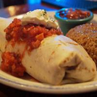 It's a wrap: The bean burrito at Shooters is vegetarian-friendly. | ADAM MILLER
