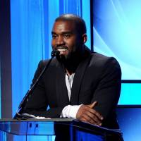 Blame game: Kanye West speaks at the 17th annual Hollywood Film Awards Gala in Beverly Hills, California, in October. | AP