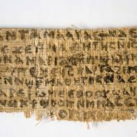 A fragment of papyrus that divinity professor Karen L. King claims is the only existing ancient text that quotes Jesus explicitly referring to having a wife is seen in this photo released September 2012 by Harvard University. An article published in the Harvard Theological Review on Thursday says new scientific tests suggest the fragment is more likely an ancient document than a forgery. | AP