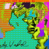 This undated image provided by The Andy Warhol Museum in Pittsburgh shows 'Andy2,' a piece that is thought to be made by the late pop artist on a computer in 1985. | AP