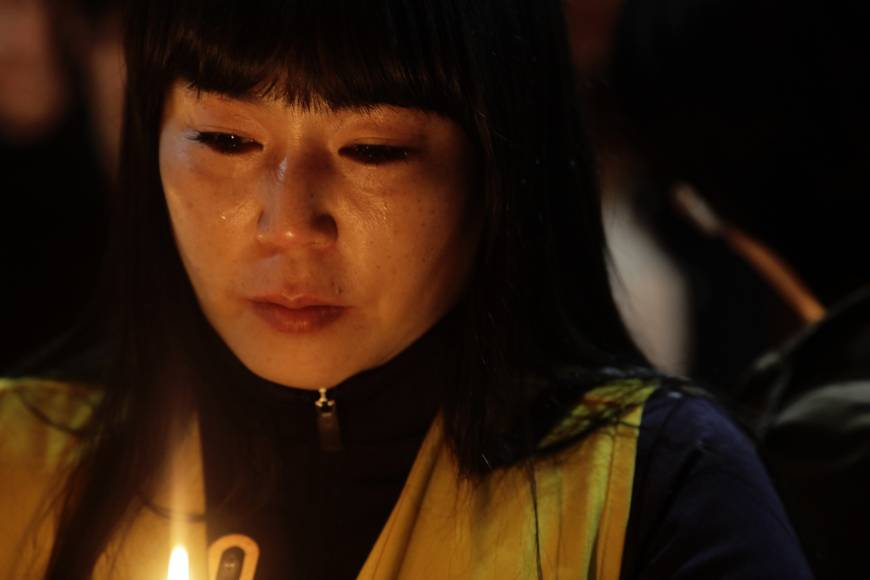 Grief in town of South Korean students missing in ferry sinking