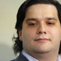 Mark Karpeles, chief executive officer of Mt. Gox, attends a news conference at the Tokyo District Court on Feb. 28.   REUTERS