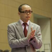 Coach Ryuji Kawai, seen in this file photo from April 2012 when he was the Hamamatsu Higashimikawa Phoenix bench boss, led the Shinshu Brave Warriors to a 16-win improvement this season and the franchise's first playoff berth. | DOMINIKA FITZGERALD