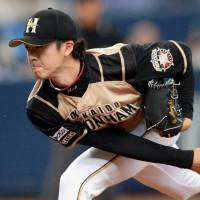 Fighters rookie Uwasawa holds off Buffaloes